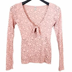 Intimately Free People Embroidered Long Sleeve Top